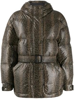 Ienki Ienki Snake Print Puffer Jacket