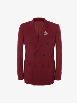 Alexander McQueen Wool Mohair Double-Breasted Jacket