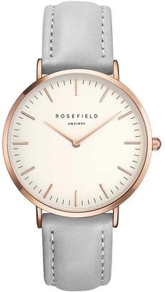 ROSEFIELD Womens Chronograph Quartz Watch with Leather Strap BWGRB9