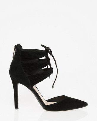 Le Château Suede Pointy Toe Ghillie Tie Pump