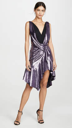 Philosophy di Lorenzo Serafini Sequin Wrap Waist Cocktail Dress
