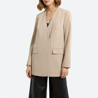 La Redoute Collections Long Collarless Jacket