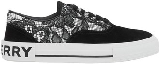 Burberry Lace And Leather Sneakers