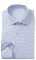 Bugatchi Woven Check Trim Fit Dress Shirt