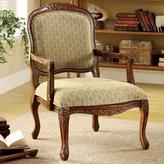 Home Decorators Collection Quintus Accent Chair in Antique Oak Finish