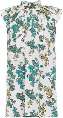 Victoria Victoria Beckham Gathered Floral-print Jacquard Top
