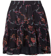 IRO Lilie Printed Georgette Mini Skirt - Black