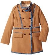 Oscar de la Renta Childrenswear - Wool Drill Coat Girl's Coat