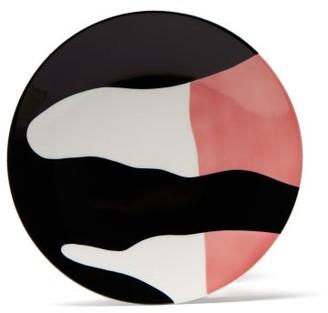 Viso Project - X Sargadelos Porcelain Plate - Black Pink