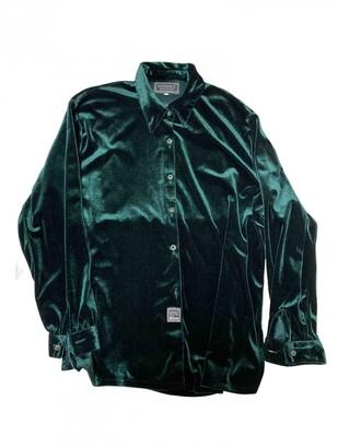 Versace Green Velvet Top for Women