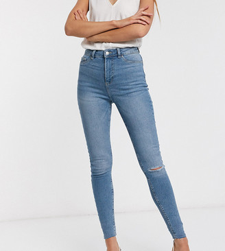 New Look Tall ripped disco jean in blue