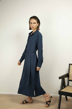 Buttoned Down Liv the Label - Navy Flynn Belted Dress - 36-38 | navy - Navy