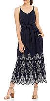 Gibson & Latimer Floral Eyelet Midi Dress