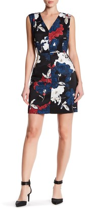 Cynthia Steffe Elodie Floral Printed V-Neck Dress