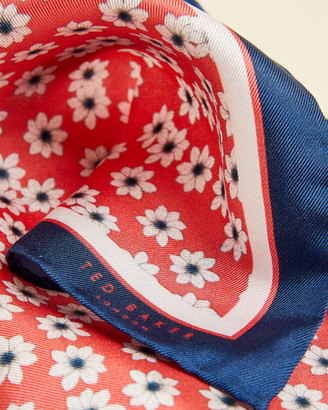 Ted Baker DAZYPO Daisy print silk pocket square