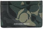 Alexander McQueen camo-print cardholder
