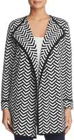 Avec Chevron Print Sweater Jacket