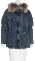 Yves Salomon Fur-Lined Denim Coat