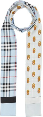 Burberry Vintage Check and Link Print Silk Skinny Scarf