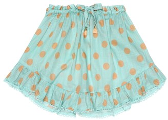 Zimmermann Kids Kirra polka-dot cotton skirt