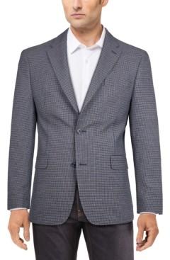 Tommy Hilfiger Men's Modern-Fit Blue/Brown Check Sport Coat