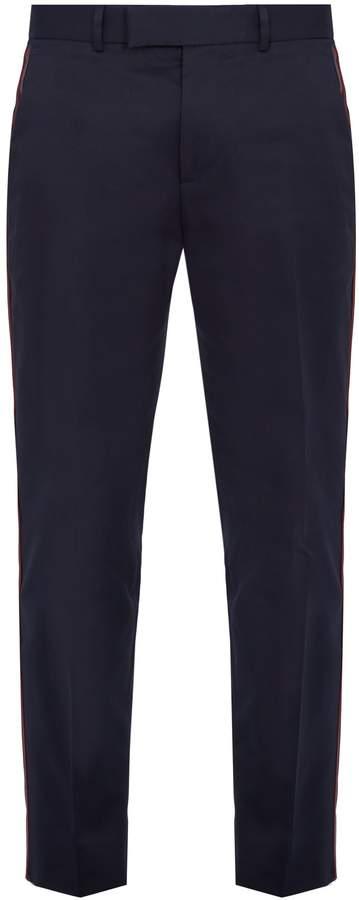Gucci Side-stripe cotton trousers