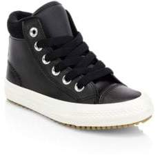 Converse Kids Chuck Taylor All Star Boot Sneakers - Black - Size 1 (Child)