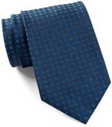 Calvin Klein Silk Ribbed Duo Dot Tie