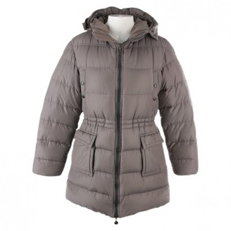 Moncler Grey Cotton Coat for Women