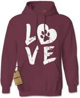 Expression Tees Hoodie Love Dog Paw Print Adult