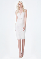 Bebe Perforated Faux Suede Dress