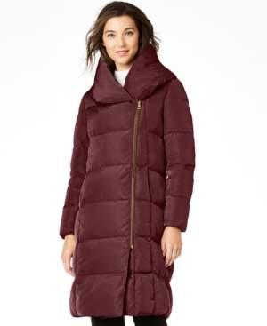 Cole Haan Asymmetrical Pillow-Collar Puffer Coat
