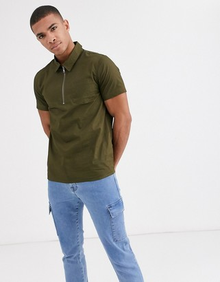 New Look half zip shirt