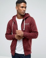 Jack Wills Hoodie With Wills Logo In Damson
