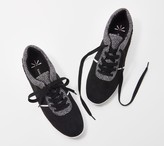 Isaac Mizrahi Live! Suede Contrast Dot Lace-Up Sneakers