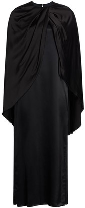 Marina Moscone Twist Cape Dress