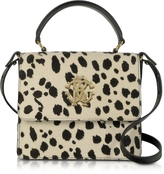 Roberto Cavalli Pony Hair and Calf Leather Top Handle Satchel Bag