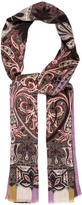 Etro Cashmere & Silk-Blend Paisley Scarf