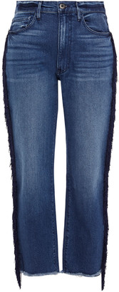 3x1 W3 Higher Ground Fringed High-rise Straight-leg Jeans