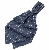 Forzieri Blue & Yellow Polkadot Pattern Pure Silk Ascot