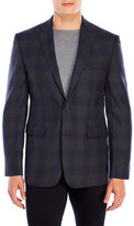 Vince Camuto Charcoal Plaid Wool Sport Coat