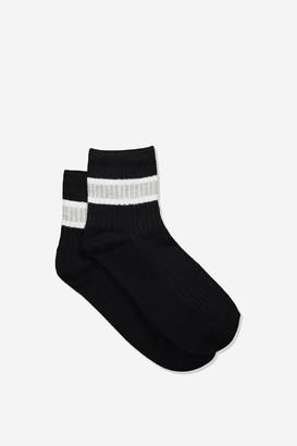 Rubi Quarter Crew Sock