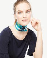 Ann Taylor Floral Geo Skinny Silk Scarf