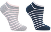 Falke Set Of Two Striped Cotton-blend Socks - Stone