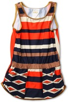 Little Marc Jacobs Hayley Stripe Short Dress Cover Up (Ink Blue) - Apparel