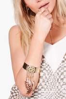 boohoo Amelia Feather Embellished Arm Cuff