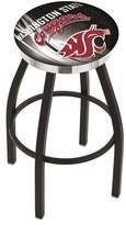 "NCAA 36"" Swivel Bar Stool Holland Bar Stool Team: Washington State Cougars, Finish: Black/Chrome"