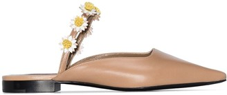 Fabrizio Viti Bea floral-appliqued leather mules