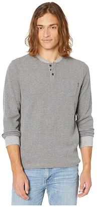 O'Neill Olympia Long Sleeve Henley T-Shirt (Black) Men's Clothing