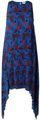 Kenzo Phoenix Print Pleated Dress